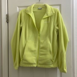 Columbia highlighter yellow women's fleece med